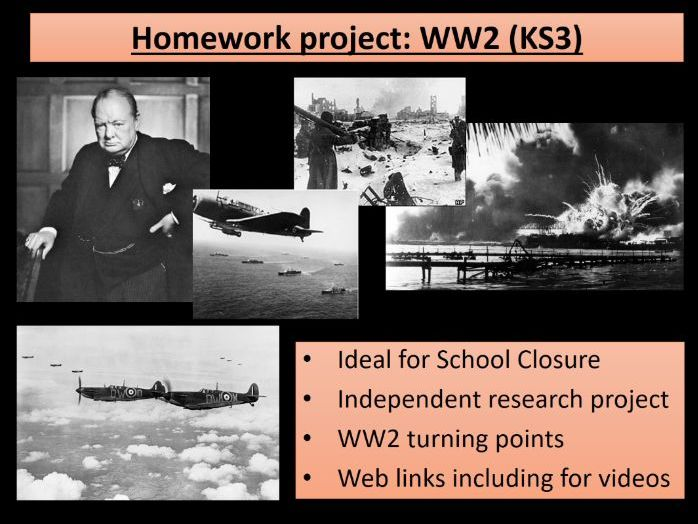 Home learning - KS3 History WW2 Turning Points - ideal for school closures