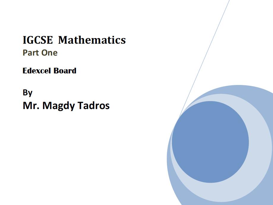 IGCSE-GCSE Maths Edexcel-CIE-OL-Book Part 1