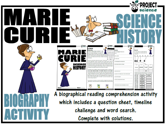 Marie Curie Biography Activity