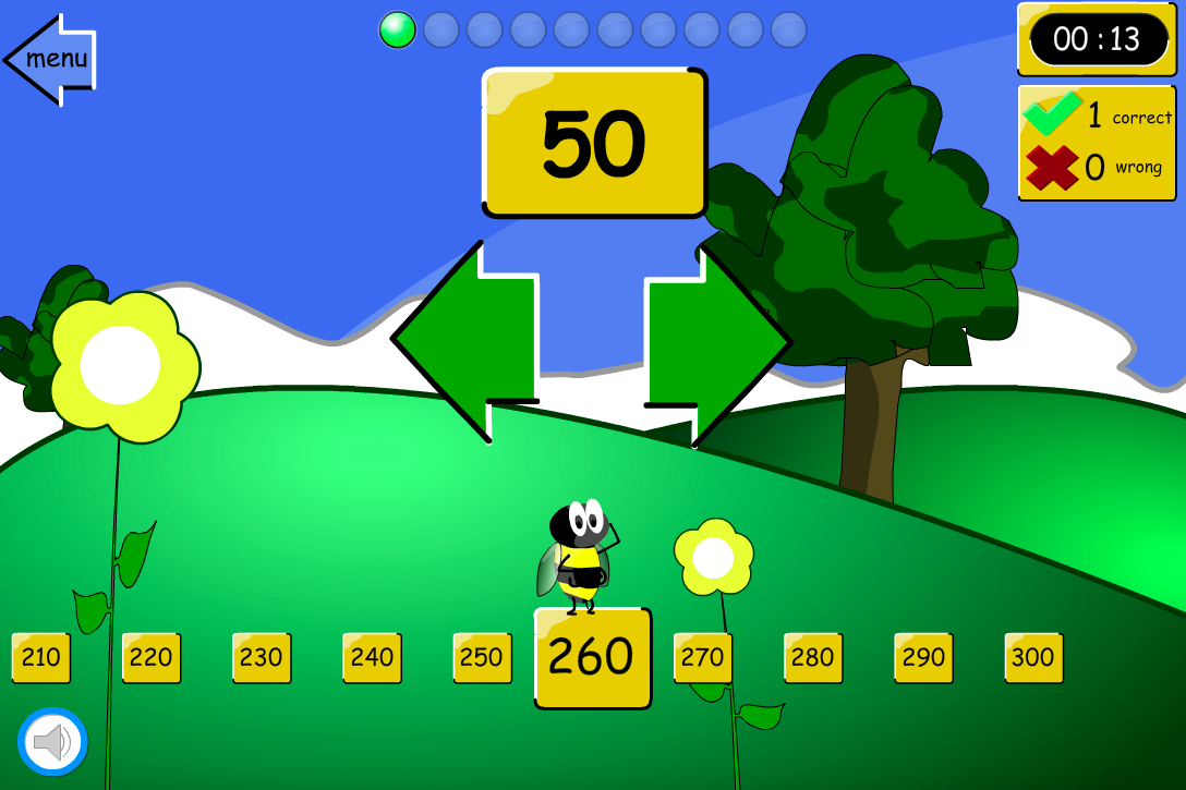 Up or Down the Number Line? Tens - Interactive Game - KS2 Number