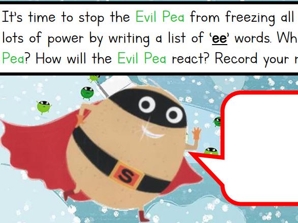Supertato Evil Pea Rules