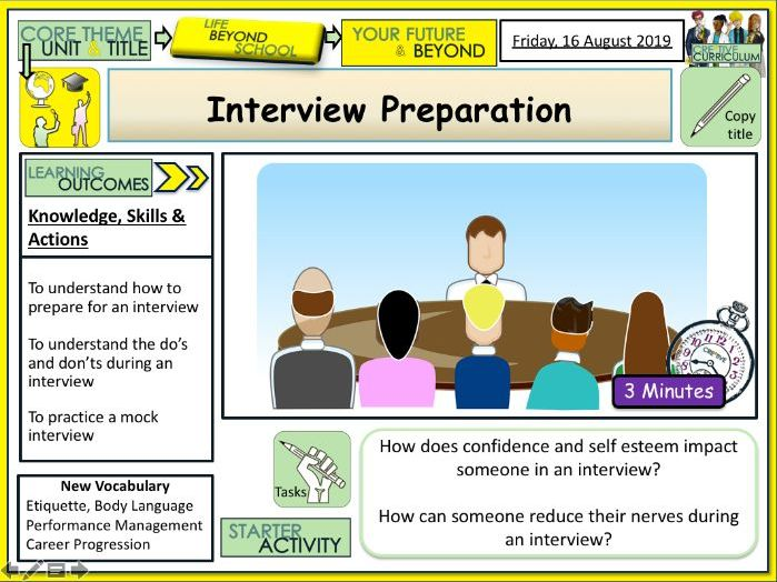 Interview Preparation + Careers