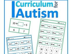Missing Factors Times Tables Facts Cut & Paste and Clip Cards set, Autism, SEND