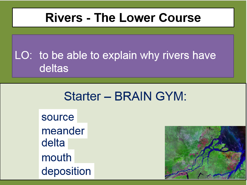 Rivers - lower course (deltas)
