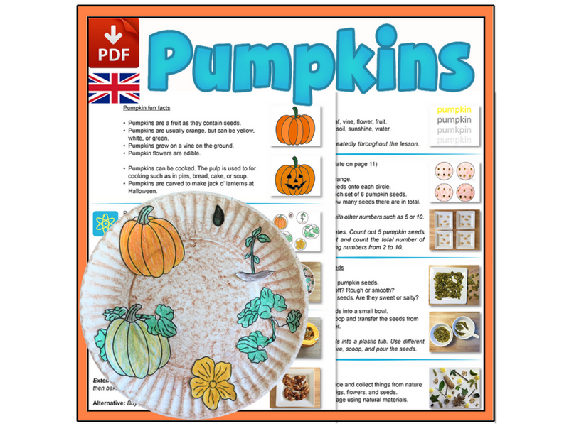 Pumpkin Mini-lesson - UK Version (A4)