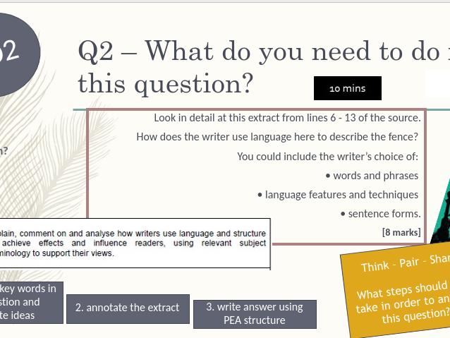 AQA Language Paper 1 Section A