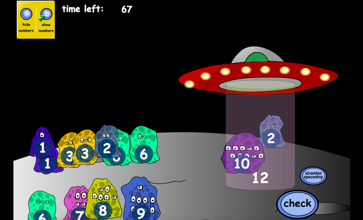 Addition to 20 - Adding Aliens: Evacuate Aliens Interactive Game - KS1 Number