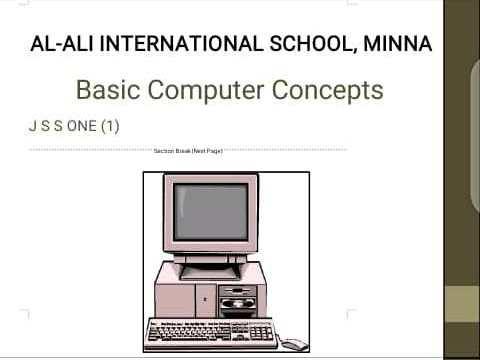 BASIC COMPUTER CONCEPT