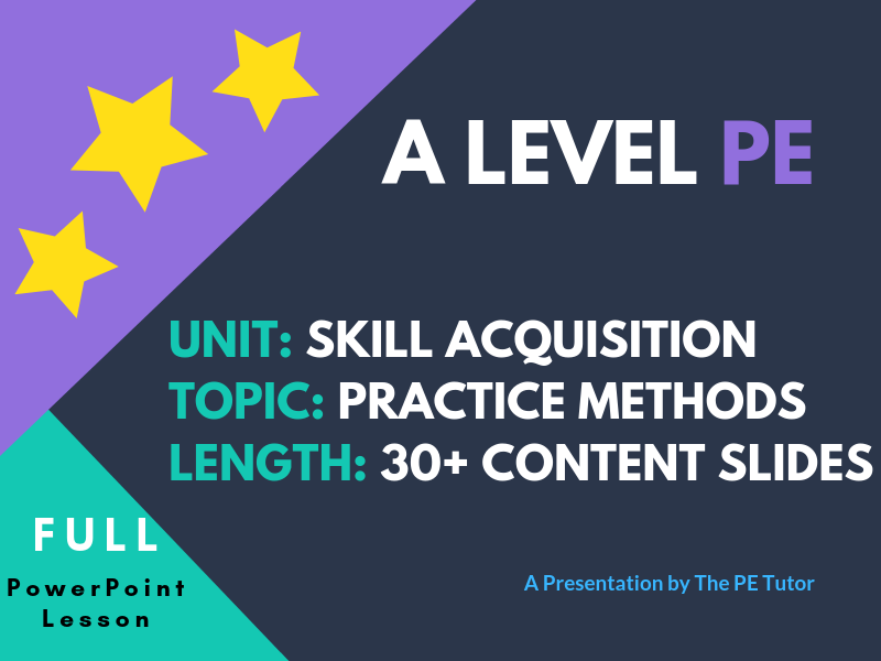 Types of Practice and Presentation – NEW PE A Level PowerPoint Lesson