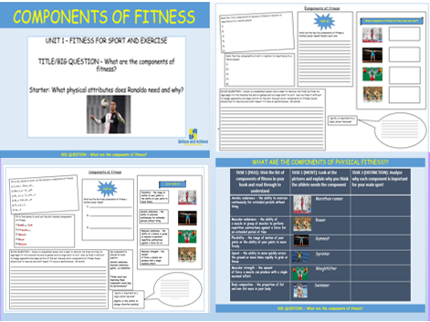 Components of fitness - BTEC Sport level 2 Unit 1 (2018)