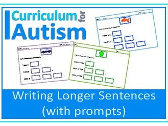 Writing Sentences with Prompts, Autism, SEND, Speech Therapy