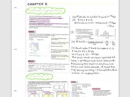 AS Maths Statistics notes- Chapter 5 (Probability)