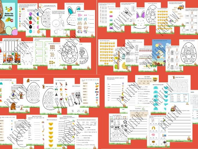 Easter Themed Worksheets - Spring Activities