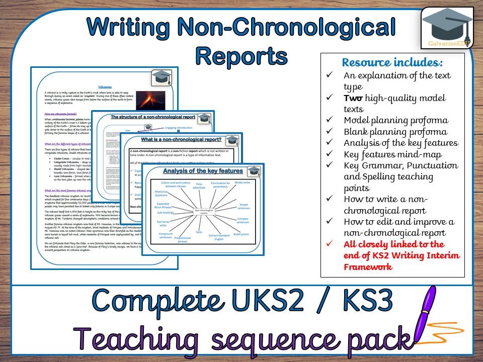 Complete Non-chronological Report teaching sequence (UKS2 / KS3)