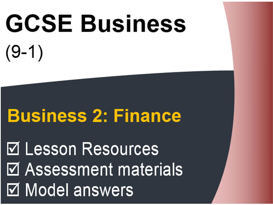 GCSE Business (9-1) OCR - Finance - Assessment & Revision resource pack