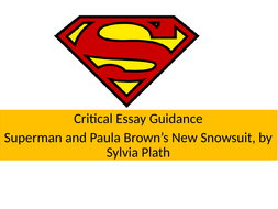 Superman and Paula Brown's New Snowsuit, Critical Essay Plan and Guidance: National 5/6