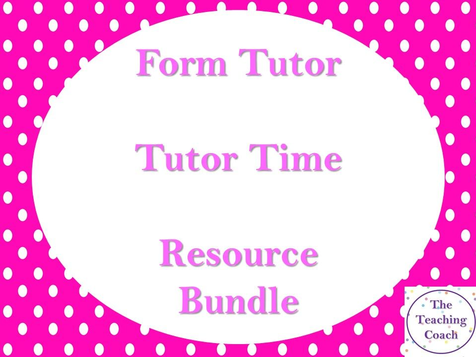 Form Time Tutor Resource Bundle