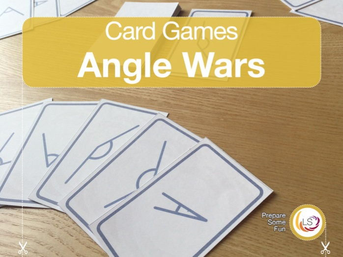 Angles | Card Game for learning basic acute and obtuse angles