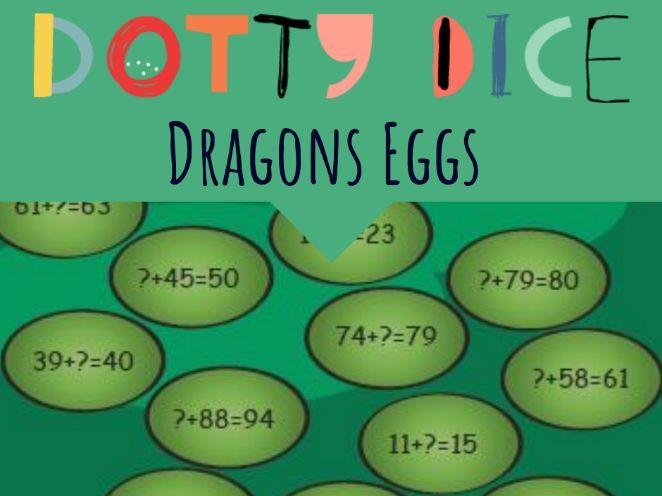 Numeracy Board Game - Dragons Eggs - Advance Counting - Change Unknown