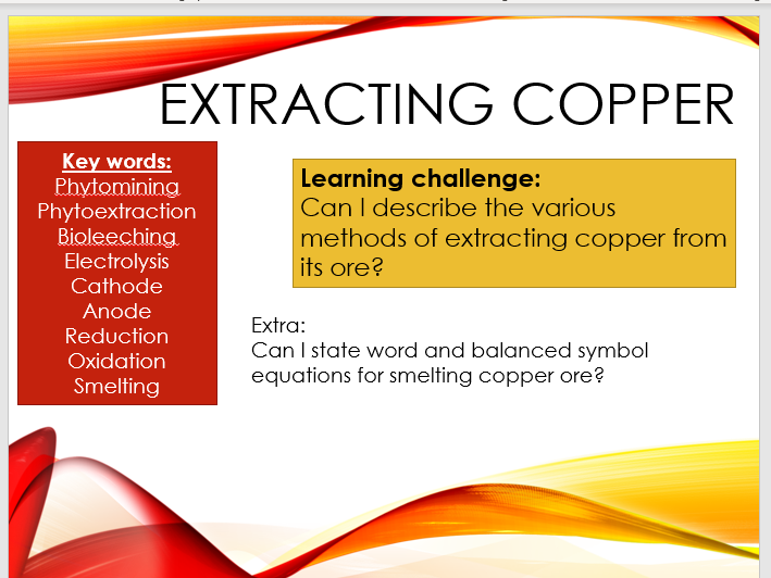 Chemistry - Extracting Copper