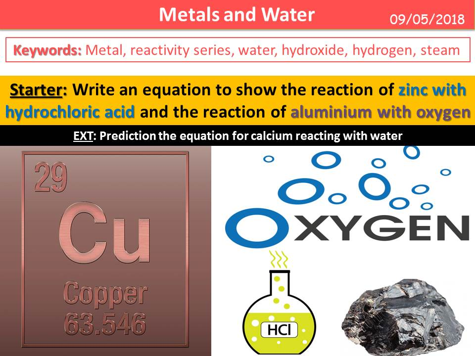 Metals and Water