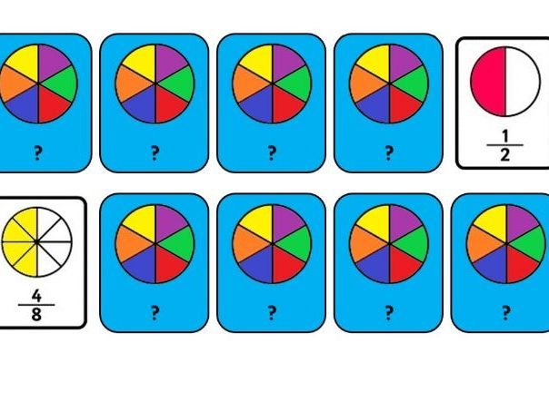 Equivalent Fractions Pairs Game - Interactive Powerpoint & PDF