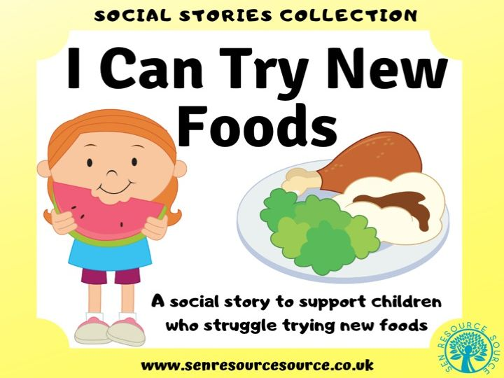 I Can Try New Foods Social Story
