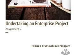 Undertaking An Enterprise Project (Level 2) - Achieve Program Assignment 2