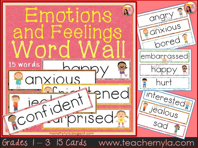 Emotions and Feelings Word Wall