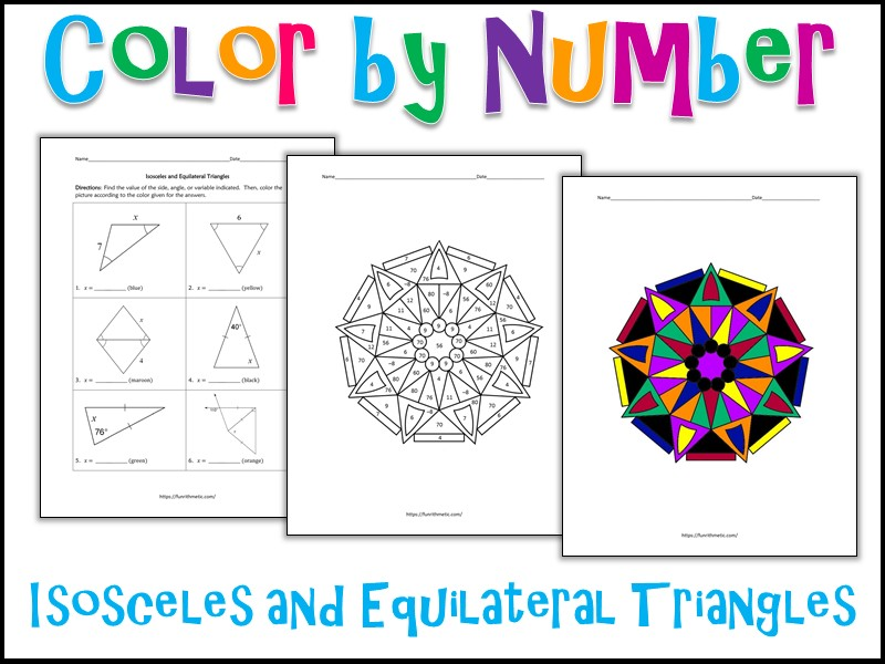 Isosceles And Equilateral Triangles Color By Number Teaching Resources