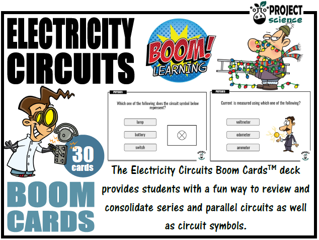 Electricity Circuits Boom Cards™ - Distance Learning
