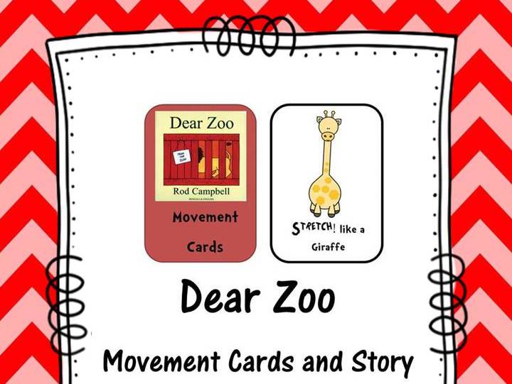 Dear Zoo Movement Cards and Story