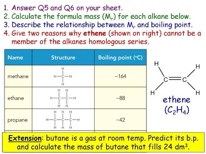 GCSE Chemistry Crude Oil, Hydrocarbons and Alkanes full lesson (Edexcel 9-1 SC20a SC20c CC16a CC16c)
