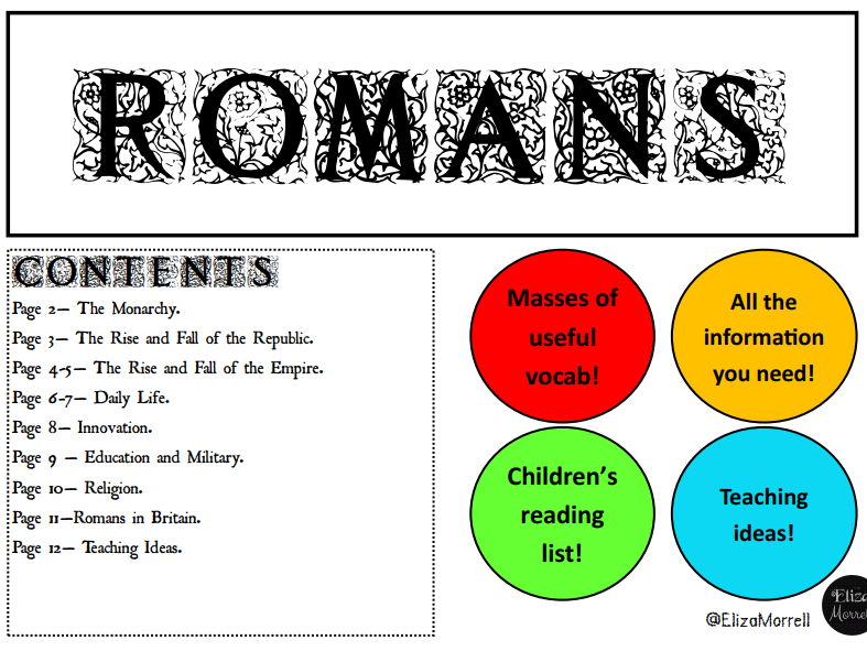 Fact Sheet - The Romans