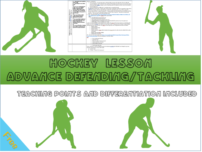 Hockey lesson plan - Advanced defending and  tackling skills (block, jab and reverse)