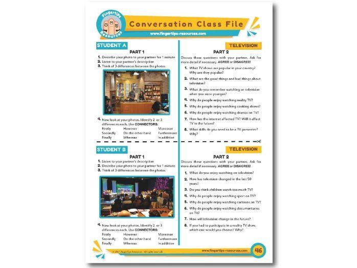 Television - ESL Conversation Activity