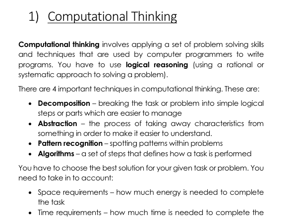 AQA GCSE (9-1) Computer Science Notes