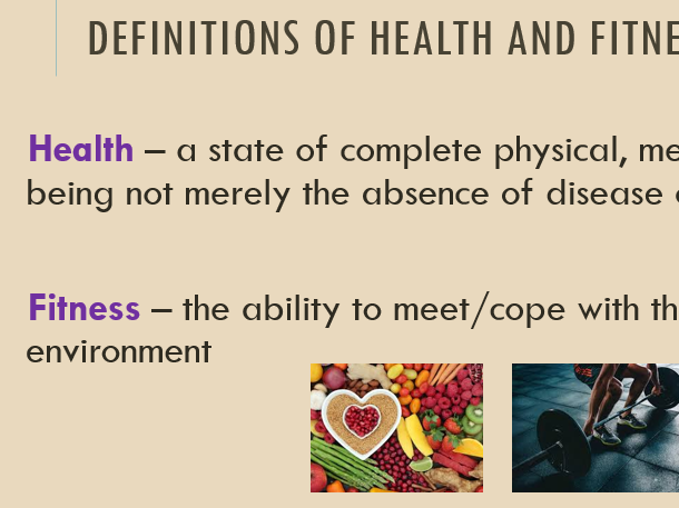 3.1.3.1 - The relationship between health and fitness (AQA)