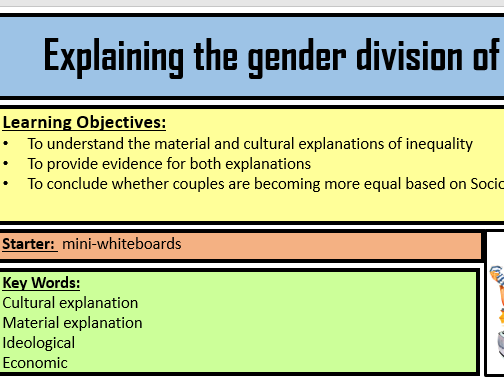 Material and cultural explanations of gender inequality