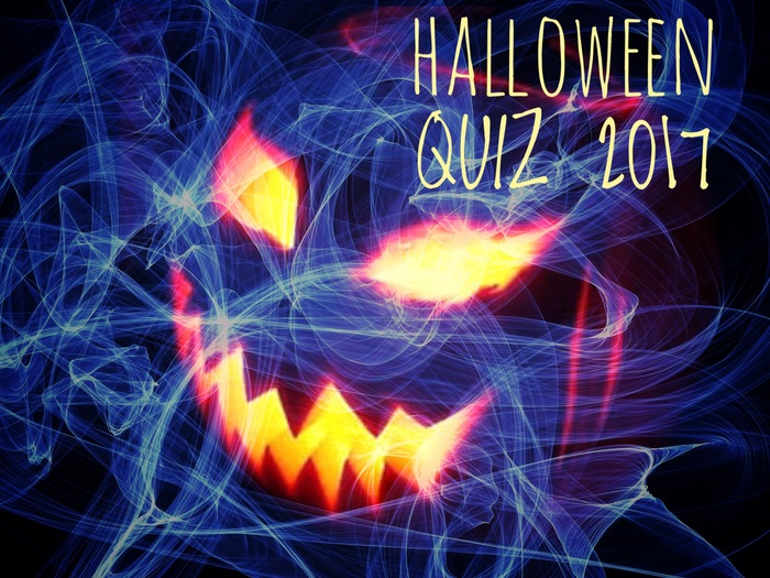 HALLOWEEN QUIZ 2017. Slideshow and printable formats included.