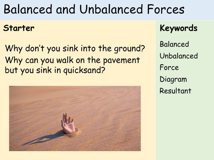 Balanced/Unbalanced and Resultant Forces