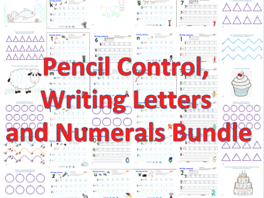 Pencil Control, Writing Letters and Numbers