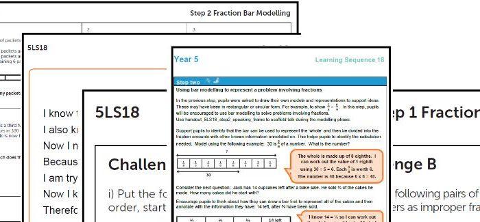 Year 5 Maths plan Fractions - problem solving ESSENTIAL maths