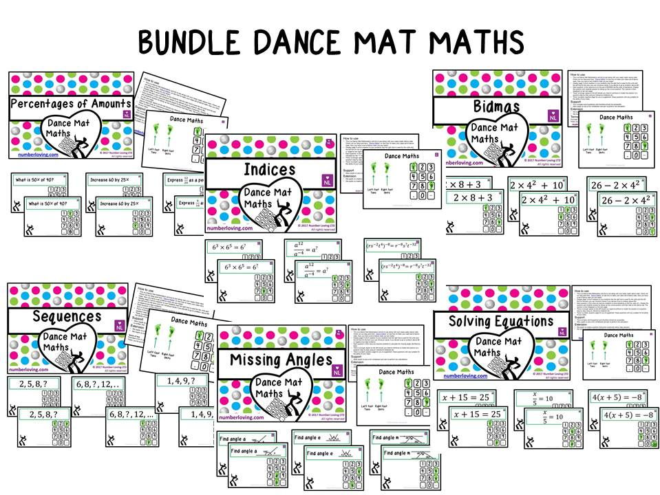 BUNDLE Dance Mat Maths