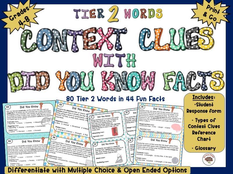 Context Clues using Fun Facts