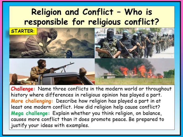 Religious Conflict + Leaders