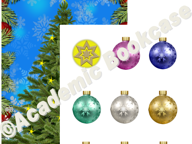 Reward counting chart - Christmas tree and baubles