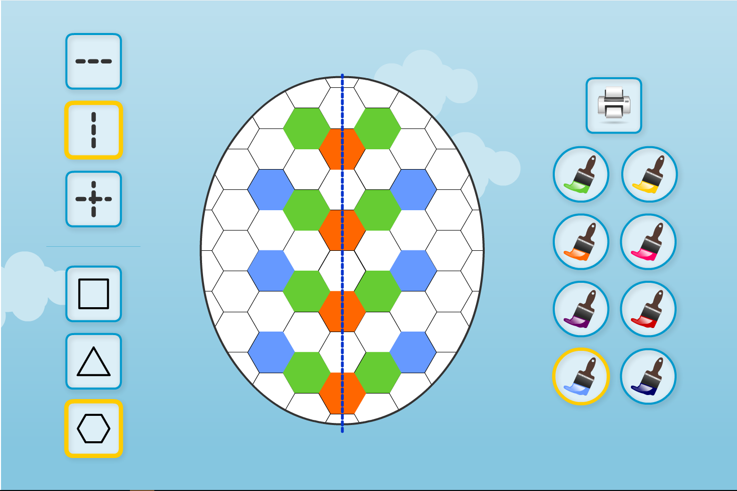 Patchwork Egg Symmetry Interactive Activity - Easter KS1