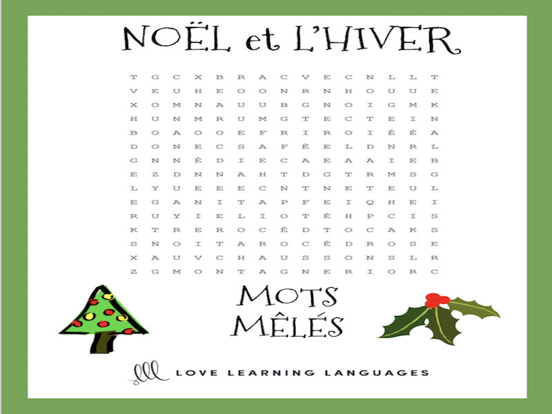 french no l mots m l s french christmas word search by jenniferlcrespin teaching resources. Black Bedroom Furniture Sets. Home Design Ideas