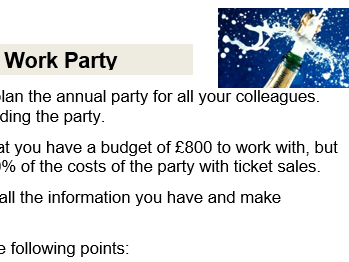 Maths: Your Annual Work Party